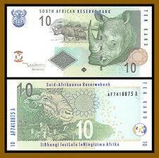 South Africa 10 Rand, 2005 P-128a Rhino Unc