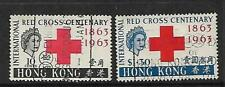 Hong Kong 1963 Red Cross  Centenary set of 2 Used