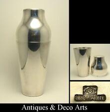 Christofle Large Silver-plated Modernist Art Deco Cocktail Shaker
