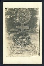 Carte Photo TOMBE ORNES REIMS Guerre Juin 1918 Militaire GROSSEAU DELUSSAC DUPIC