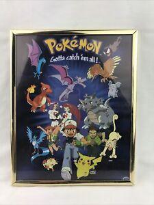 """Pokemon 8x10 Framed Poster """"Gotta catch 'em all!"""""""