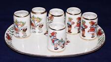 Mitteriech Bavaria - Hand Painted - Mini Beer Stein Set w/ Tray & 6 Steins Mugs