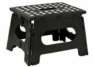 Folding Step Stool Plastic Lightweight for Kids and Adults Antislip Surface