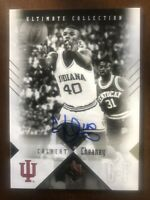 2010 Ultimate Collection #d 53 /75 Calbert Cheaney Auto Indiana Hoosiers