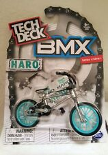 TECH DECK BMX Finger Bikes  HARO Gray/Teal  Series 1