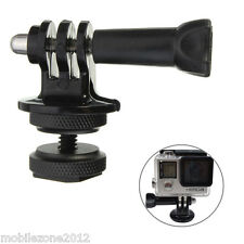 2 x 1/4'' Hot Shoe AdaptorTripod Mount Screw GoPro Hero 2 3 3+ 4 5 DSLR Camera