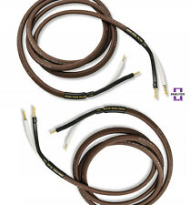 Analysis Plus Chocolate Theater 4 Speaker Cable Stereo Pair 8 ft