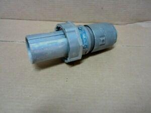 CROUSE-HINDS APJ10487 100AMP 3 Wire 4 Pole 600VAC Male Plug 250VDC