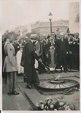 PARIS c. 1930 -Caïds Bachagha Ben Chili Général Gouraud Arc de Triomphe- PRM 440