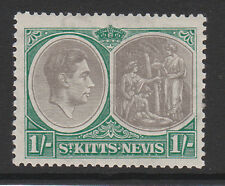 ST.KITTS 1/- WITH 'BREAK IN VALUE TABLET FRAME' SG 75a MINT.