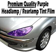 2 x A4 Sheets Purple Transparent Car Headlight Rear Lamp Tint Tinting Film