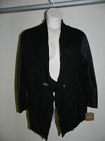 Ellen Tracy Sweater Black Womens Size M/L Cardigan Mosaik NWT $79.50