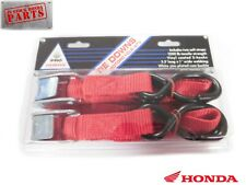GENUINE HONDA MOTORCYCLE ATV TIE DOWN STRAPS WITH 2 SOFT STRAPS RED