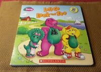 Barney: Let's Go Look and See by Sonia Sander (2007, Board Book)