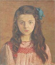 Mädchen in rotgepunktetem Kleid,Adrianus Johannes Grootens 1864