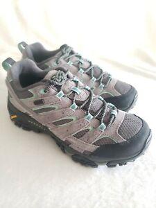 Merrell Women's Moab 2 Waterproof Hiking Shoes Size 8.5 Wide Drizzle Mint