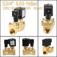 Magnetventil 2Wege 1/8-1 Zoll AC230V/DC12V/24V Messing Elektroventil NC/NO IP65