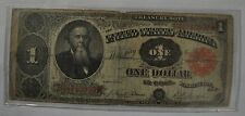 1891 Stanton Large Treasury Note $1 Red Seal Star