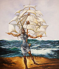 The Ship A1+ by Salvador Dali High Quality Canvas Print
