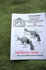 Small Owners Guide/Manual for a FIE 6 Shot Revolver, 11 pages reference info