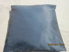 Cushion cover in blue pinstripe woven fabric 16x16 inch £4 each, 2 for £6