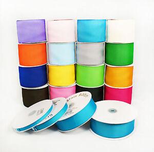 """MADE IN TAIWAN Grosgrain Ribbon Spool 50yrd 3/8"""" 5/8"""" 7/8"""" 1-1/2"""" 2"""" 3"""" 16 Color"""