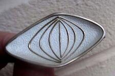 Norwegian Sterling Silver & Enamel Modenist Brooch - O.F. Hjortdahl Oslo Norway