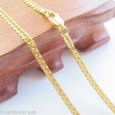 """Classic 2.5mm Wheat Link Chain Au750 22""""L J.Lee Pure 18K Yellow Gold Necklace -"""