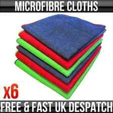 Microfibre Car Cleaning Detailing Valeting Polishing Duster Cloths 38x38cm X 6