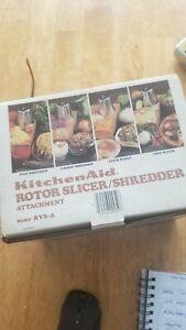 KitchenAid Rotor Slicer Shredder Stand Mixer Attachment RVSA Slice Fruits Vegeta