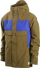 HOLDEN Men's SEVILLE Snow Jacket - Olive / Electric Indigo - Large - NWT