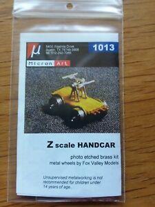 Micron Art Z Scale Handcar  Kit 1013