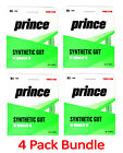 4 Pack Bundle of PRINCE Synthetic Gut 16 with Duraflex GREEN - Authorized Dealer