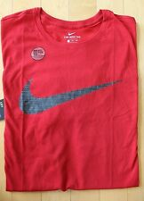 NWT Men's NIKE Big & Tall Dri-Fit Crewneck Swoosh SS T-Shirt 4XL RED BLACK GRAY
