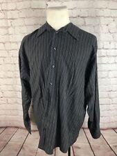 Kenneth Cole Men's Dark Gray Stripe Cotton Dress Shirt 16.5 32/33 $65