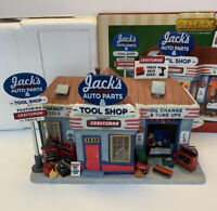 Lemax Village Collection Jack's Auto Parts & Tool Shop Craftsman Tools Christmas