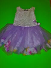 Spunky Kids Baby Girls Lavender & White Beaded Spring Summer Tutu Dress Size 10