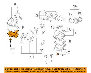 Cadillac GM OEM 2009 XLR 4.6L-V8 Air Cleaner-Lower Housing Right 19177135