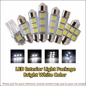 8 x White LED Light Bulb Lamp Interior Package Kit For 2002-2006 Honda CR-V