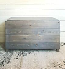 Handcrafted Wood Storage Chest Bench With Legs Rustic Farmhouse Style Toy Box