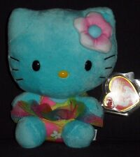 TY HELLO KITTY TURQUOISE BEANIE BABY - MINT with MINT TAG
