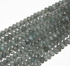 """Nuevo Suave 4mm gris piedra preciosa del grano Bombilla Spodumene 15 /""""AAA"""