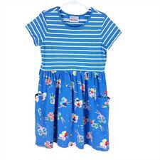 Hanna Andersson Girls 130 US 8 Mixie Playdress Dress Blue Stripe Fairy Fairies