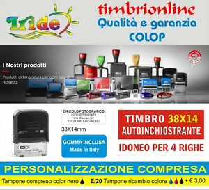 Personalizzazione inclusa Timbro Autoinchiostrante Personalizzato HAPPY 13 mm 58x22