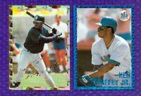 2 1991 PLAYBALL SPORTS STARS GOLD & BLUE PRISM BORDERS  KEN GRIFFEY JR  MARINERS