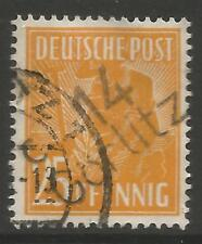 "Estampillas-Alemania-zona soviética. 1948. 25pf Naranja. ""Gorlitz"" Michel: 175 II. geprüft"