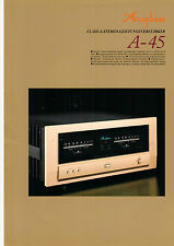 Faltblatt Accuphase A-45   B570