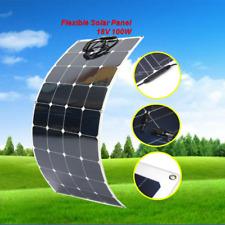 100W Flexible Solar Panel 12V Battery Charger RV Motorhome Boat Energy Supply