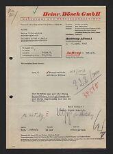 HAMBURG, Brief 1942, Heinr. Bösch GmbH Werkzeuge Werkzeugmaschinen
