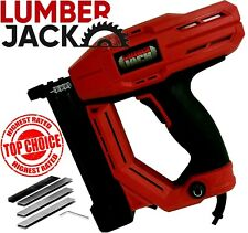 Lumberjack Electric Nail Gun Stapler Tacker 240v 32m 18 Gauge Nailer Heavy Duty